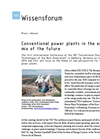 Conventional Power Plants In The Energy Mix Of The Future Brochure