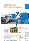 Fixed Power and Distribution Transformers Brochure