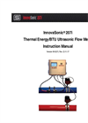 InnovaSonic - Model 207i - Thermal Energy/BTU Ultrasonic Flow Meter Instruction Manual