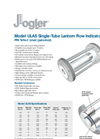 Model ULAS Single-Tube Lantern Flow Indicators Brochure