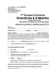 2nd European Conference SmartGrids & E-Mobility - Exhibitor Registration (PDF 25 KB)
