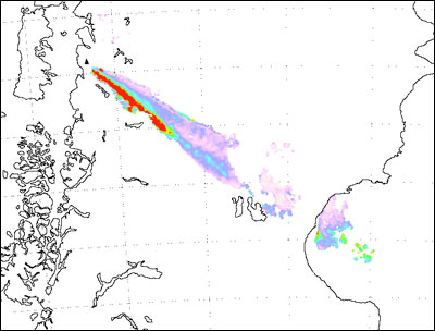 Retrievals of fine ash mass from MODIS data
