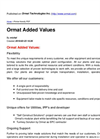 Ormat Added Values – Brochure
