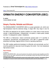Binary Geothermal Power Plant – Brochure