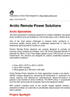 Arctic Remote Power Units - Brochure