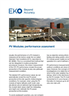 Instruments and analyzers for PV modules performance assesment - Brochure