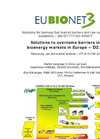 Solutions To Overcome Barriers In Bioenergy Markets In Europe (EUBIONET III) Brochure