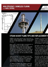 Aereon Steam-Assist Flare Tip and Replacement Program Datahseet