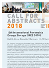 12th International Renewable Energy Storage Conference (IRES) - 2018 - Call for Abstracts