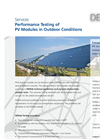 PV Module Performance Tests Brochure