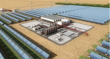 Abengoa Solar partners with Total and Masdar to build, own and operate the first large scale Solar Power Plant in the Middle East