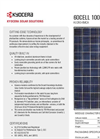 Model KU260-6MCA - Photovoltaic Modules Systems Brochure