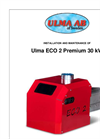 Ulma - Model Eco 2 Premium (30 kW) - Pellet Burner - Brochure