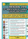 2nd Solar Summit Middle East & North Africa - Menasol Brochure (PDF 3.79 MB)