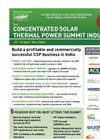2nd Concentrated Solar Thermal Power Summit India, 12-13 April, New Delhi, 2011