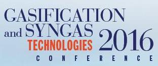 Gasification and Syngas Technologies Conference - 2016