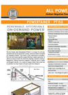 ALL Power Labs Powertainer - Model PT150 - Compact and Cost-Optimized Biomass Power Generation System - Brochure