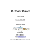 Watter Buddy Manual