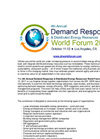 Sponsorship & Exhibition Prospectus - 4th Demand Response & DER World Forum 2017
