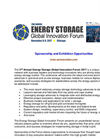 2nd Energy Storage Global Innovation Forum - 2017 - Sponsorship Prospectus