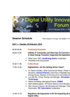 Session Schedule - Digital Utility Innovation Forum 2018, Barcelona