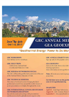 GRC Annual Meeting & GEA GeoExpo+ Flyer