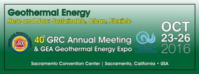 40th GRC Annual Meeting & GEA Geothermal Energy Expo