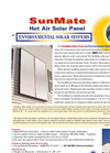 Solar Thermal Air Heaters SunMate
