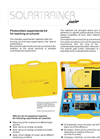 Solartrainer Junior - Photovoltaic Experiment System- Brochure
