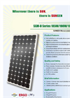 SUNGEN SGM-D Series 185W/190W/195W/200W Monocrystalline Solar Modules Brochure