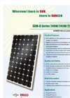 SUNGEN SGM-D Series 240W/245W/250W/255W Monocrystalline Solar Modules Brochure