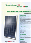 SUNGEN SGM-P Series 225W/230W/235W/270W/280W/285W Polycrystalline Solar Modules Brochure