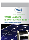 Photovoltaic Ribbon - Brochure