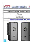 Liquid-to-Air  Heat Pumps Installation and Service Manual - Brochure