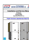 Liquid-to-Air and Water  Heat Pumps TF Series Installation and Service Manual- Brochure