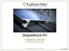 SimpleBlock - Model PV - Rail-Free Racking System - Manual