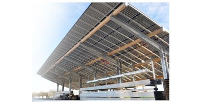 2 In 1 - Solar Station & Roof for Parking Lots