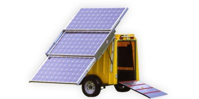 PSG - Model Micro 3000 Series - Solar Photovoltaic Charge Trailer with Storage