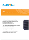 Mono-crystalline Photovoltaic Cell D6F