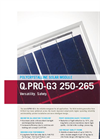 Q-Cells - Q-PRO-G3 - Multicrystalline Solar Module - Data sheet