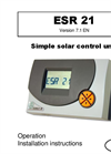 Model ESR21 - Simple Solar Controller Brochure