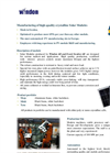 Windon AB and Essett Sweden AB - Photovoltaic Solar Modules Datasheet