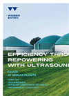 Disintegration ultrasound system at Biogas plants
