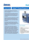 Specac Atlas - 8, 15 and 25 Ton - Power Hydraulic Press Datasheet