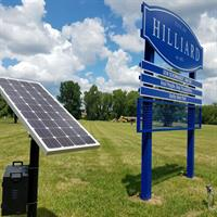 Commercial Solar Led Sign Lighting
