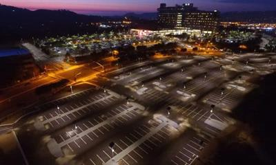 Outdoor solar lighting solutions for Solar parking lot lighting