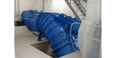 Model SSK type - S-Shape Double Regulated Horizontal Kaplan Turbine