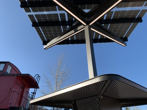 SolarZone solar charging and shade structure