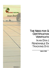 The Need for Green-e Certification and Verification In an Era of Renewable Energy Tracking Systems pdf