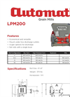 Automatic - Model LPM200 - Low Profile Electric Mills - Datasheet